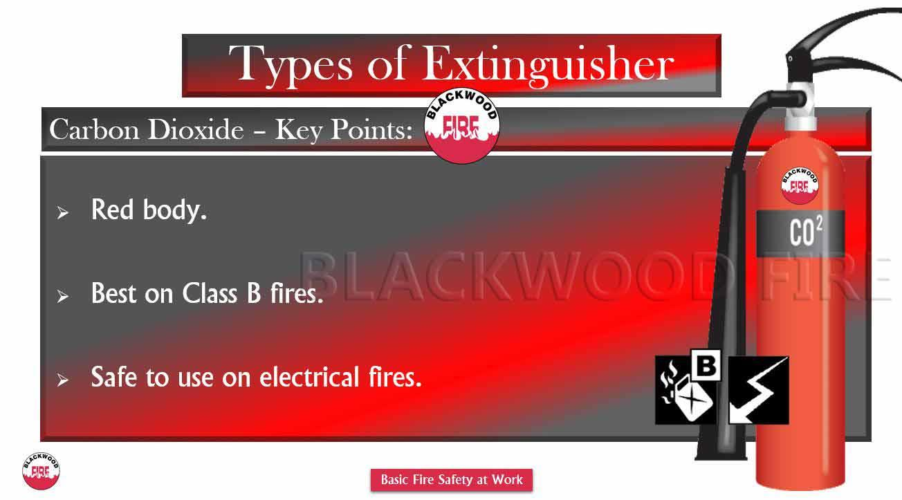 Types of Fire Extinguisher and their Uses Carbon Dioxide CO2