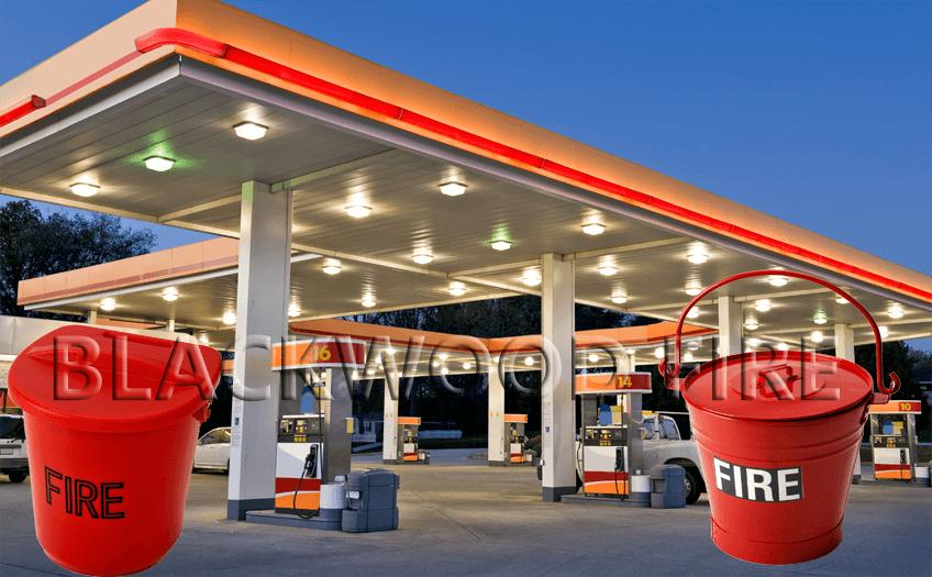 Garage and Fire Buckets