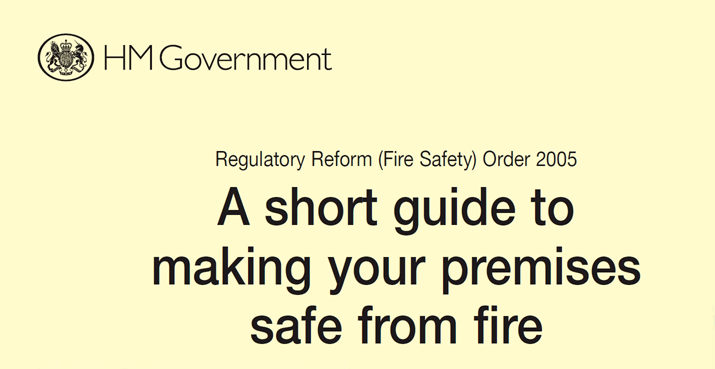 UK Fire Legislation RRO