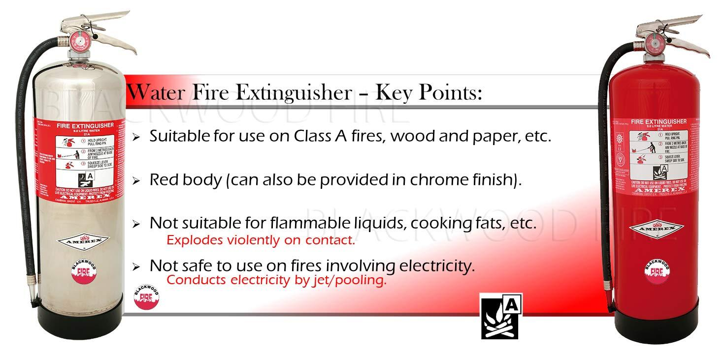 Amerex Water Fire Extinguishers - with Key Points