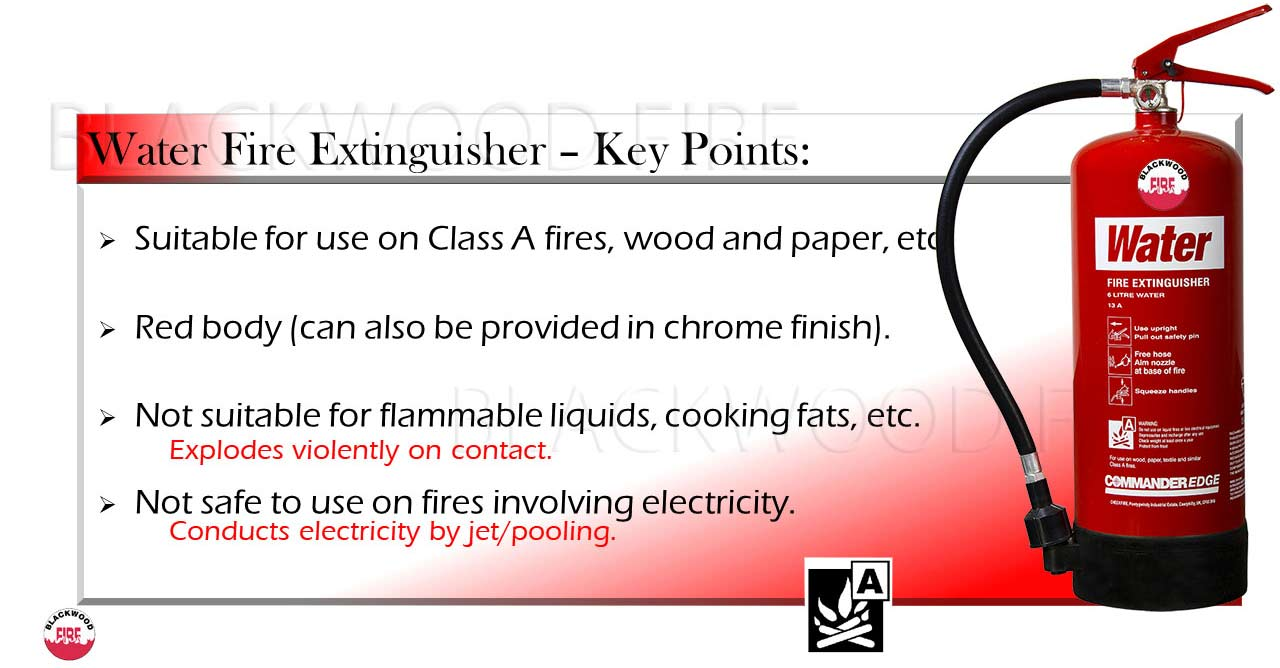 Commander edge water FIRE extinguisher with key points