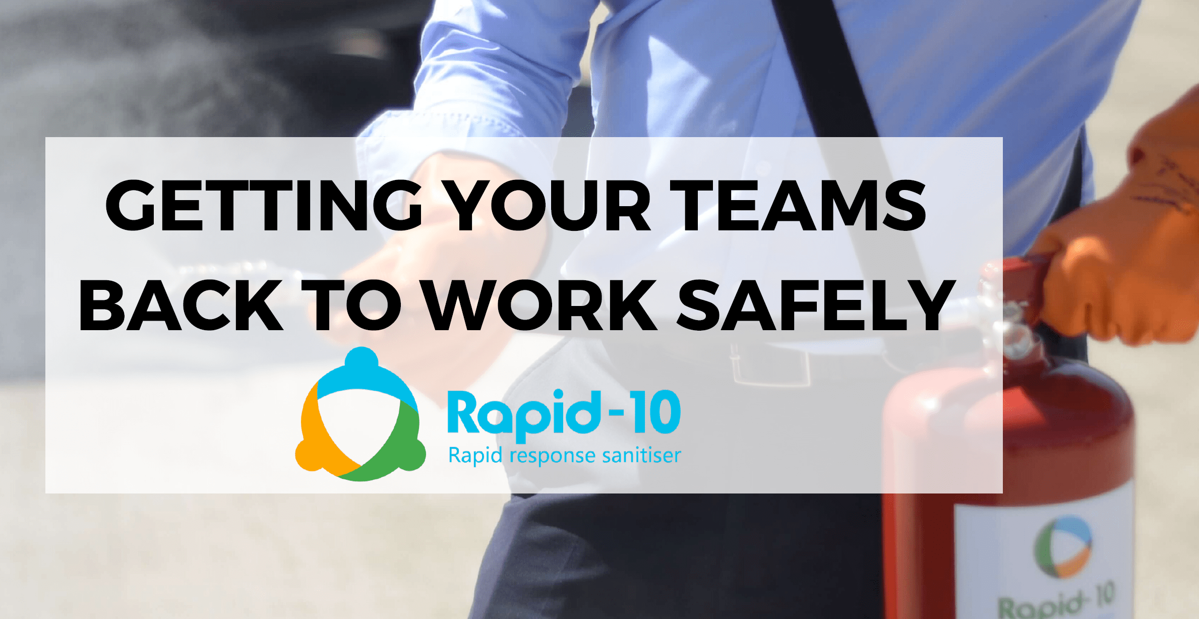 Protect your workplace, business and public areas with Rapid-10 portable sanitising solution. Help keep people safe.