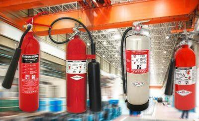 Types of fire extinguisher & their uses
